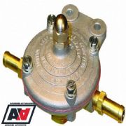PETROL KING FUEL PRESSURE REGULATOR FOR CARBS 1.5 TO 5 PSI WITH 6mm PIPE TAILS